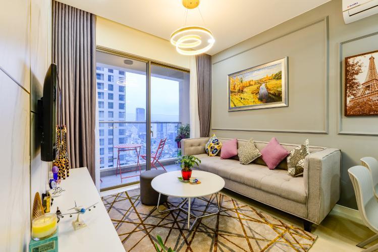 Cho thuê căn hộ Masteri Millennium tầng cao, view sông 2PN đầy đủ nội thất