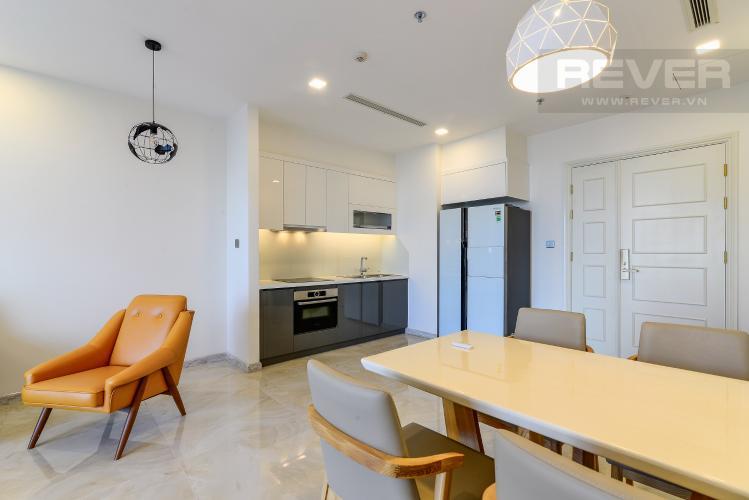 Phòng Ăn & Bếp Bán căn hộ Vinhomes Golden River 2PN, tháp The Aqua 1, đầy đủ nội thất, view trực diện sông Sài Gòn