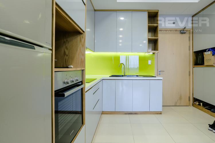 Phòng Bếp và Lobby Bán căn hộ M-One Nam Sài Gòn tầng trung, 2PN đầy đủ nội thất