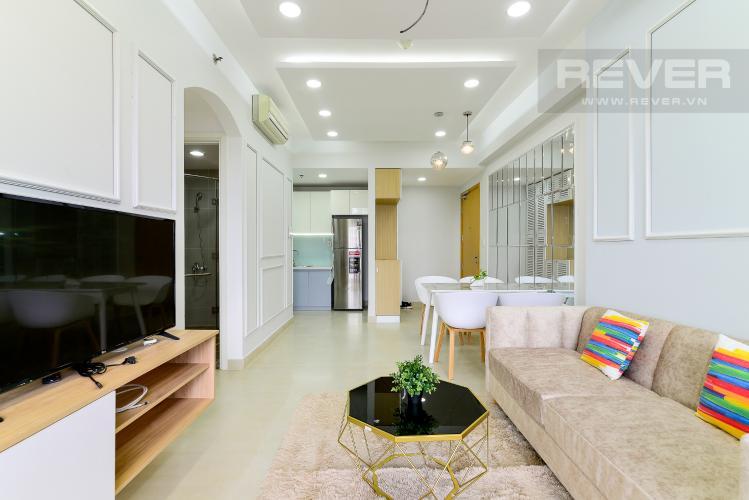 Phòng Khách Bán căn hộ Masteri Thảo Điền 2PN, tháp T1, đầy đủ nội thất, view Landmark 81