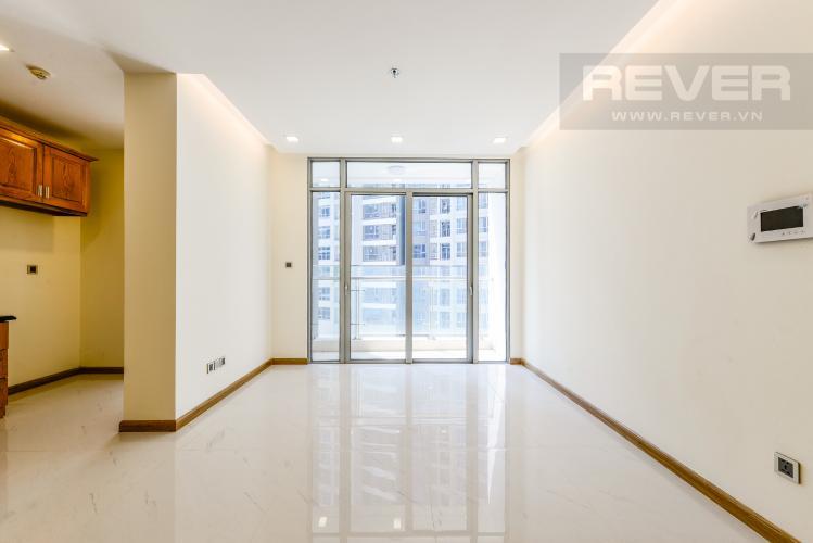 Phòng khách Căn hộ Vinhomes Central Park tầng cao 2PN nội thất cơ bản