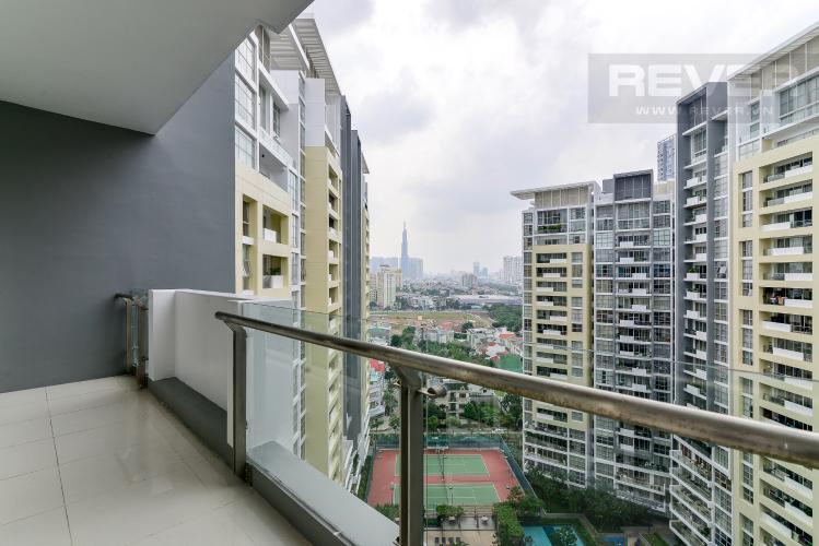 View Balcony Cho thuê căn hộ The Estella Residence 3PN, tầng trung, đầy đủ nội thất, view hồ bơi và Landmark 81