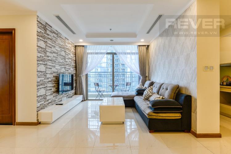 Phòng khách Căn hộ Vinhomes Central Park tầng trung, tòa Landmark 6, 4 phòng ngủ, full nội thất