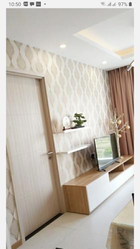 Phòng khách New City Thủ Thiêm Căn hộ New City Thủ Thiêm, diện tích 69.74m2, gồm 2 phòng ngủ, nội thất cơ bản.