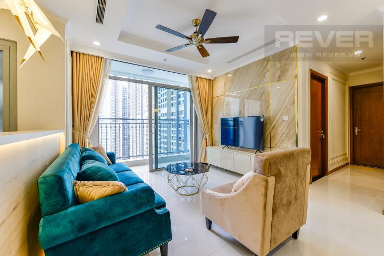 Phòng khách Căn góc Vinhomes Central Park 3 phòng ngủ tầng trung Landmark 5