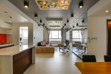Cho thuê căn hộ Tropic Garden 2PN, tầng cao, đầy đủ nội thất, view sông thoáng mát