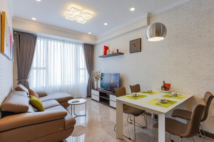 Căn hộ RiverGate Residence 2 phòng ngủ tầng cao tháp B nội thất đầy đủ
