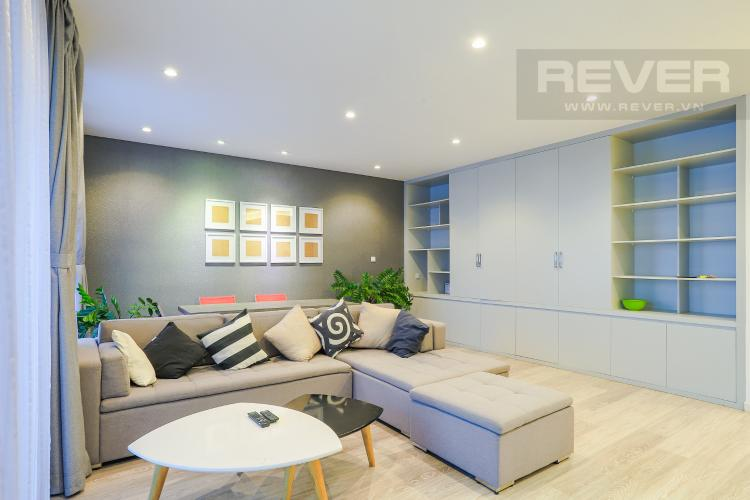 Phòng Khách Căn hộ Riviera Point tầng cao 2PN thiết kế đẹp, đầy đủ nội thất