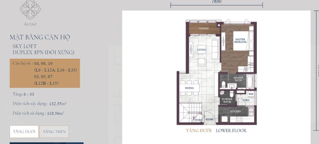 Căn hộ tháp Altaz tầng 10 Feliz en Vista nội thất cơ bản