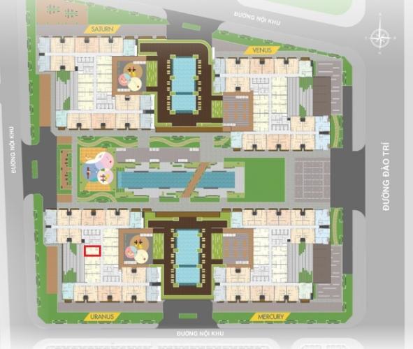 Mặt bằng dự án Q7 Saigon Riverside Bán căn hộ view Phú Mỹ Hưng, tầng trung Q7 Saigon Riverside, diện tích 53m2, nội thất cơ bản