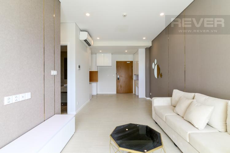 Phòng Khách Cho thuê căn hộ Diamond Island - Đảo Kim Cương 1PN, tầng thấp, đầy đủ nội thất, view hồ bơi