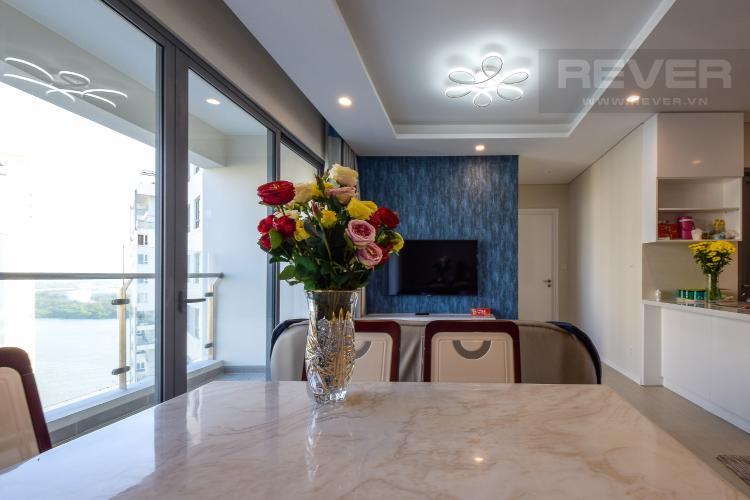 Phòng Khách Cho thuê căn hộ Diamond Island 2PN 2WC, đầy đủ nội thất, view nội khu