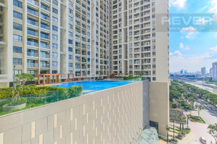 View Phòng Ngủ Bán căn hộ The Gold View tầng thấp, 3PN, view sông và hồ bơi