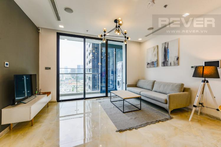 Phòng khách Căn hộ Vinhomes Golden River 2 phòng ngủ tầng trung A2 view sông