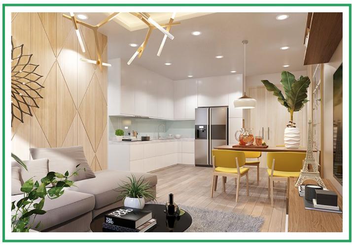 Phối cảnh căn hộ Topaz Elite Căn hộ Topaz Elite ban công hướng Đông Bắc, nội thất cơ bản.