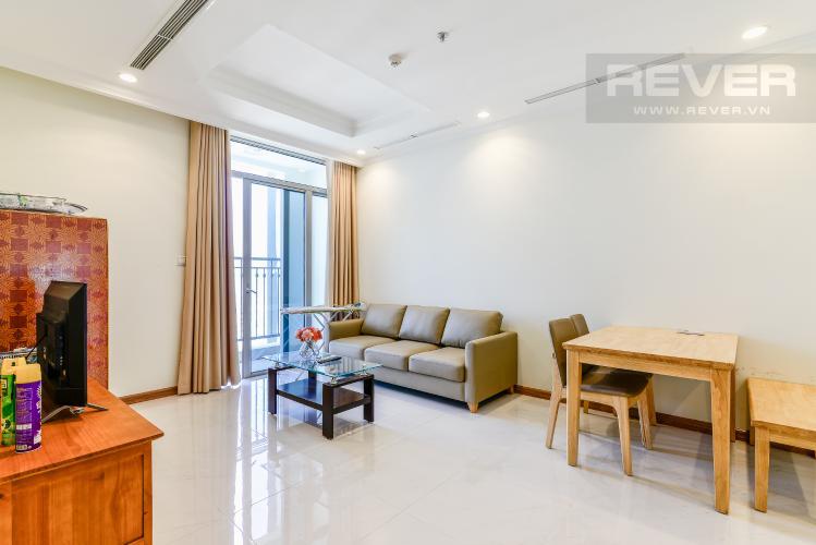 Phòng Khách Căn hộ Vinhomes Central Park 2 phòng ngủ tầng cao C3 nội thất đầy đủ