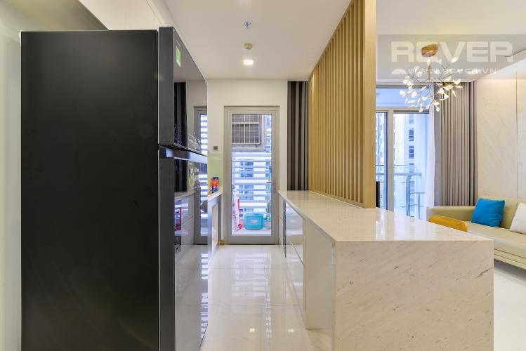 Nhà Bếp Căn hộ Vinhomes Central Park tầng cao, 2PN, đầy đủ nội thất, view hồ bơi