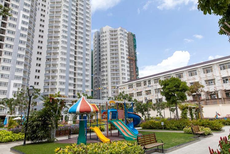 Him Lam Chợ Lớn Căn hộ Him Lam Chợ Lớn tầng thấp đầy đủ nội thất, hướng Tây.