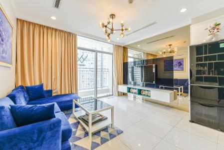 Cho thuê căn hộ Vinhomes Central Park tầng cao, 1PN, đầy đủ nội thất, view sông