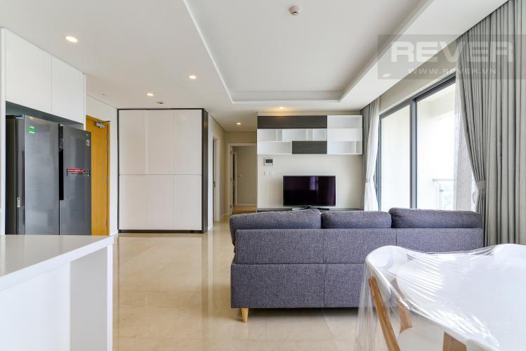 Phòng Khách Cho thuê căn hộ Diamond Island - Đảo Kim Cương 2PN, tháp Maldives, đầy đủ nội thất, view sông thoáng mát