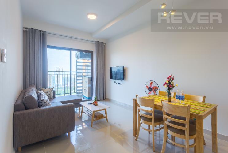 Phòng Khách Cho thuê căn hộ The Sun Avenue tầng cao 2PN đầy đủ nội thất