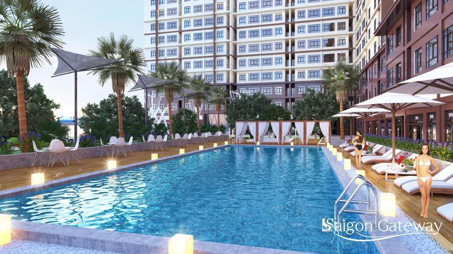 Căn hộ Saigon Gateway, Quận 9 Căn hộ Saigon Gateway 2 phòng ngủ nội thất cơ bản, view thành phố.