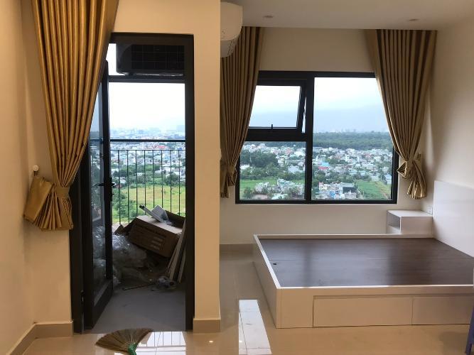 phòng khách + phòng ngủ  Căn hộ Vinhomes Grand Park tầng 22, view thành phố.