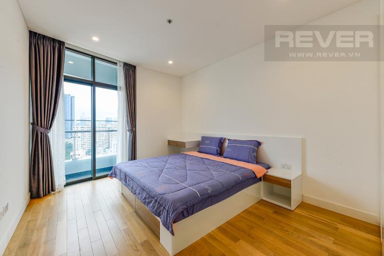 Phòng ngủ Cho thuê căn hộ City Garden 1PN, tầng cao, đầy đủ nội thất