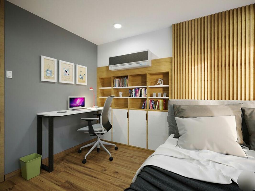 phòng ngủ căn hộ La Astoria 2 quận 2 Căn hộ La Astoria hướng Tây Bắc, đầy đủ nội thất.