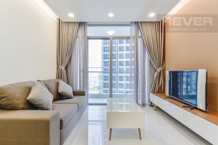 Phòng Khách Căn hộ Vinhomes Central Park 1 phòng ngủ tầng cao P7 view sông