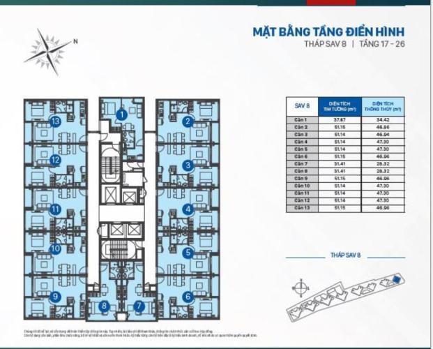 Bán hoặc cho thuê officetel The Sun Avenue, block 8, diện tích 51m2, căn góc view sông và KDC Thạnh Mỹ Lợi
