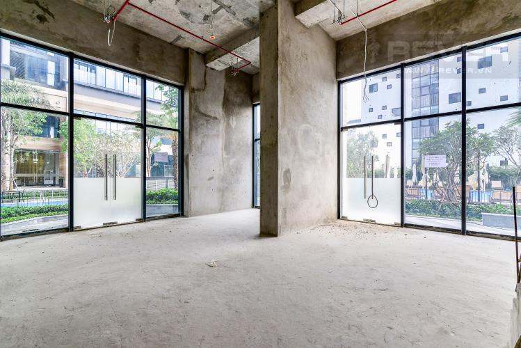 Mặt Bằng Tầng Trệt Căn hộ Shophouse Vinhomes Golden River, Tòa Aqua 1 nhà trống