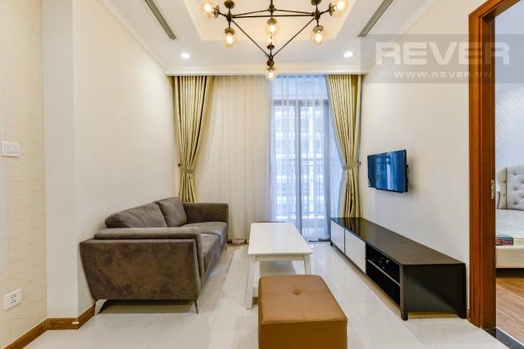 Phòng khách Officetel Vinhomes Central Park 1 phòng ngủ tầng trung L5 hướng Tây Nam