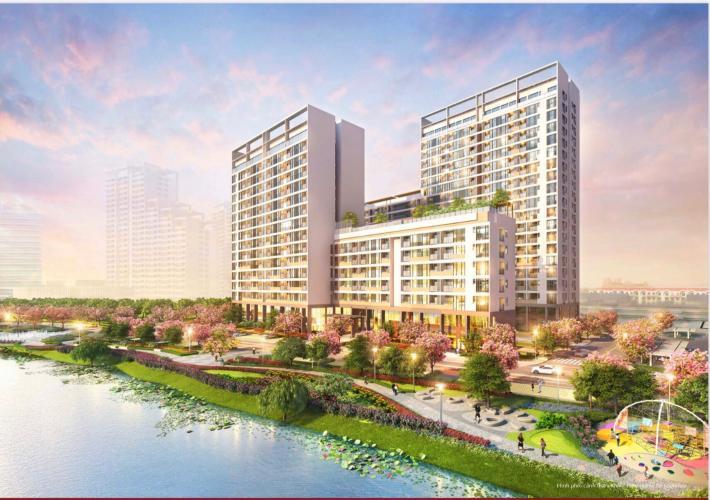 Phối cảnh khu căn hộ PHÚ MỸ HƯNG MIDTOWN Bán căn hộ Phú Mỹ Hưng Midtown 2PN, tầng 17, diện tích 91m2, không có nội thất, ban công Đông Nam