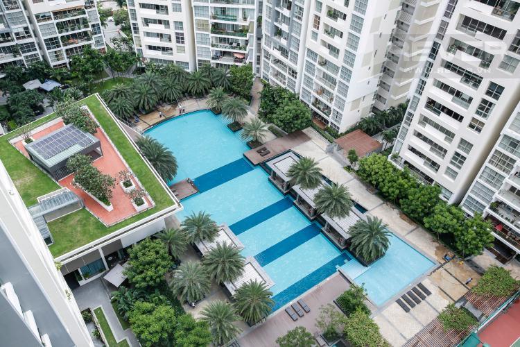 View Căn hộ The Estella Residence tầng cao 3A, 3 phòng ngủ, đầy đủ nội thất
