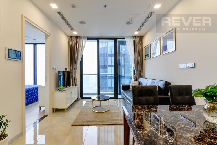 Phòng Khách Căn hộ Vinhomes Golden River tầng cao, 2PN nội thất đầy đủ, view sông