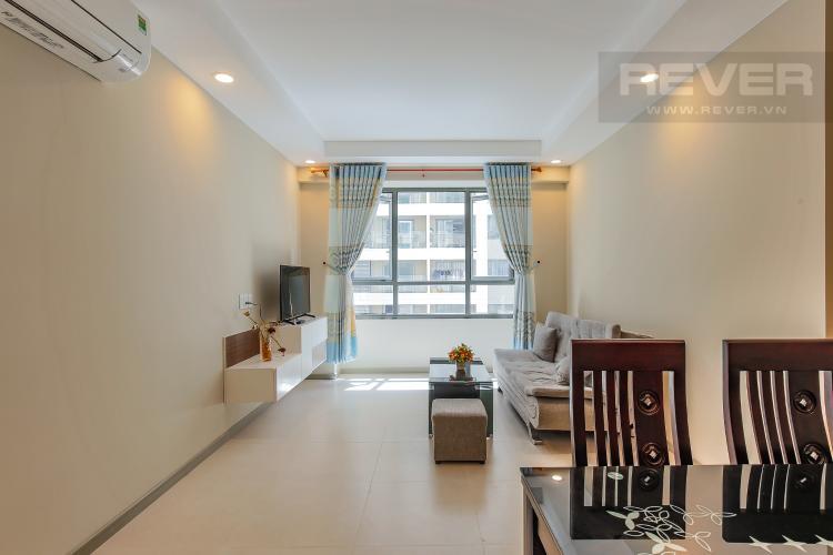 Phòng Khách Căn hộ The Gold View 2 phòng ngủ tầng trung A1 view nội khu