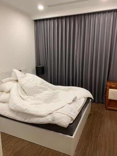 Phòng ngủ căn hộ Vinhomes Central Park Căn hộ Vinhomes Central Park đầy đủ tiện nghi, view tầng cao cực đẹp.