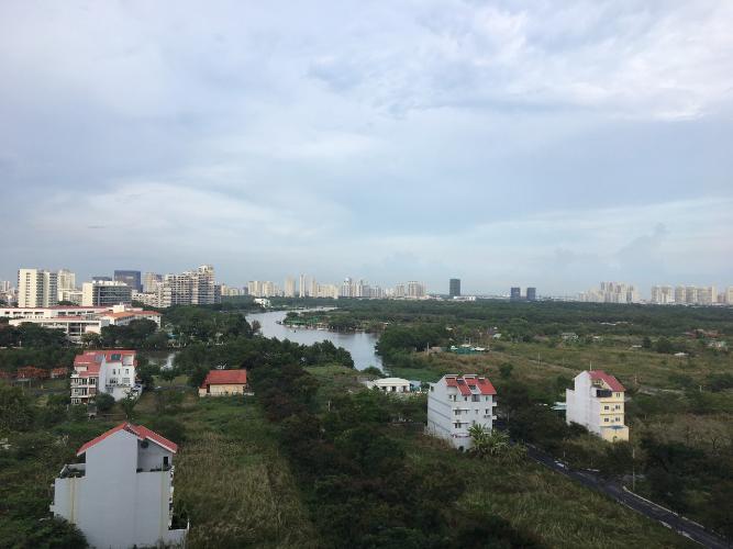 View căn hộ Saigon South Residence, Nhà Bè Căn hộ Saigon South Residence tầng cao hướng Tây, đầy đủ nội thất.