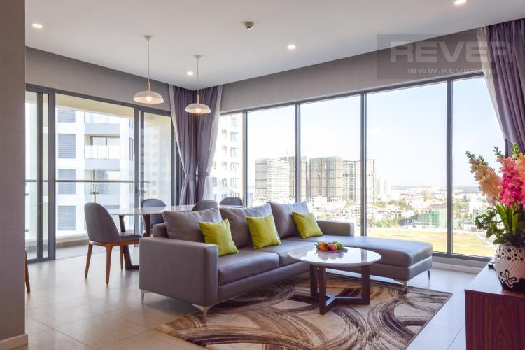 Phòng Khách Cho thuê căn hộ Diamond Island 3PN 2WC, đầy đủ nội thất, view sông