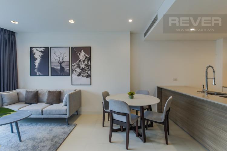 Phòng Khách Bán hoặc cho thuê căn hộ City Garden 1PN, tầng thấp, diện tích 65m2, đầy đủ nội thất