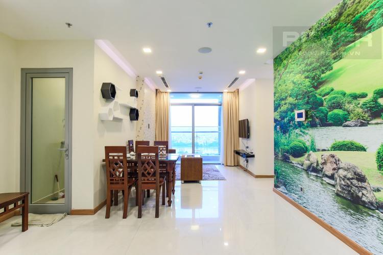 Phòng Khách Căn hộ Vinhomes Central Park 2 phòng ngủ, tầng trung P6, view hồ bơi