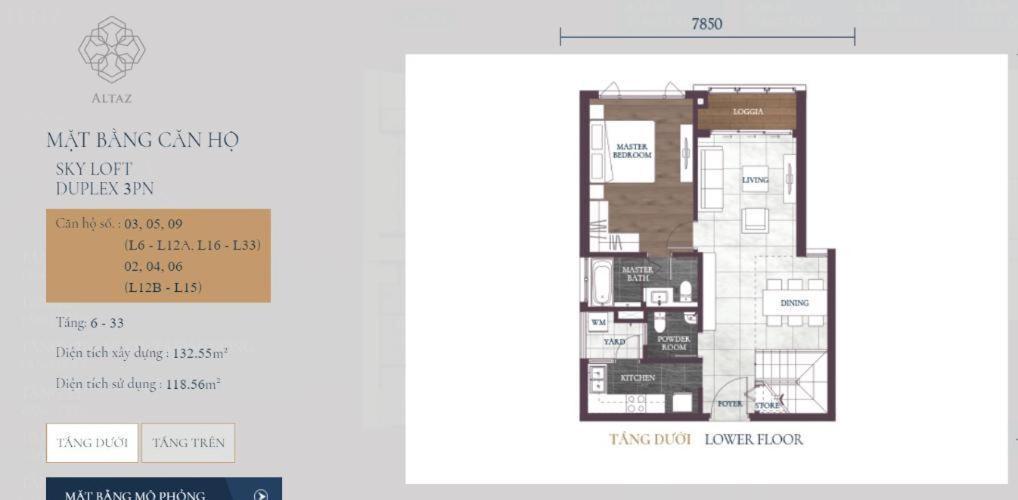 Căn hộ duplex tầng cao Feliz En Vista, bàn giao thô.