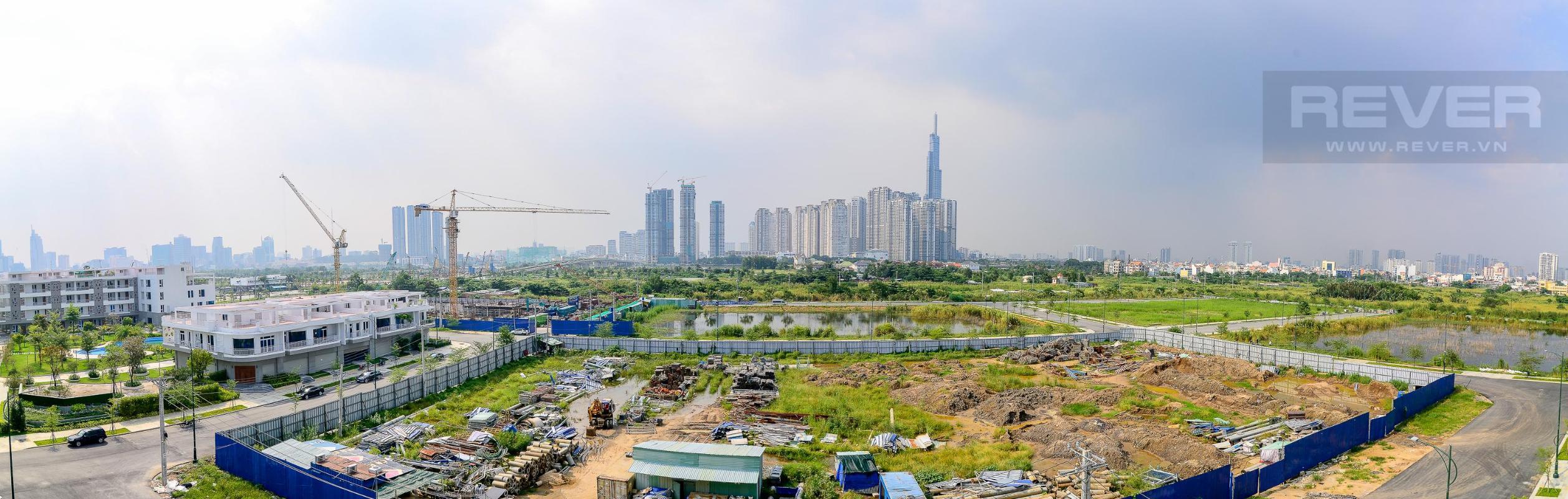 viêw Cho thuê căn hộ Thủ Thiêm Lakeview 3PN, diện tích 120m2, nội thất cơ bản, view Landmark 81