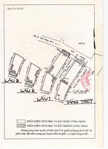 Nhà phố Quận 1 Nhà phố trung tâm Quận 1 khu phố an ninh yên tĩnh, hướng Bắc.
