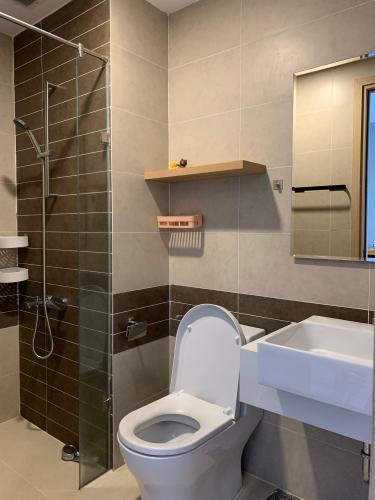 Toilet căn hộ RIVERGATE RESIDENCE Cho thuê căn hộ RiverGate Residence 1PN, tháp B, diện tích 30m2, đầy đủ nội thất