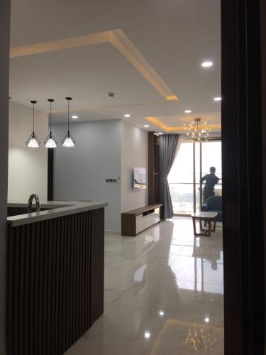 Phòng khách căn hộ PHÚ MỸ HƯNG MIDTOWN midtown Cho thuê căn hộ Phú Mỹ Hưng Midtown 2PN, diện tích 89m2, đầy đủ nội thất, ban công Đông Nam