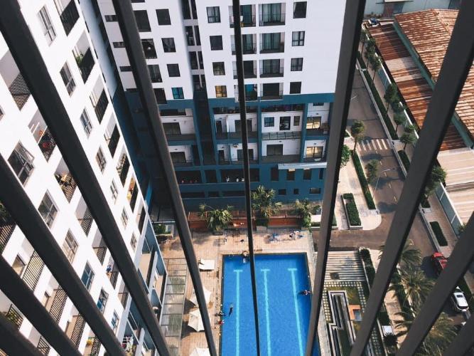View nội khu M-One Nam Sài Gòn, Quận 7 Căn hộ Office-tel M-One Nam Sài Gòn tầng thấp, view quận 1 sầm uất