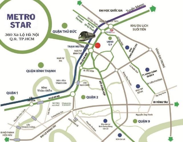 Vị trí căn hộ Metro Star , Quận 9 Bán căn hộ Metro Star tầng 14 cửa hướng Đông, nội thất cơ bản.