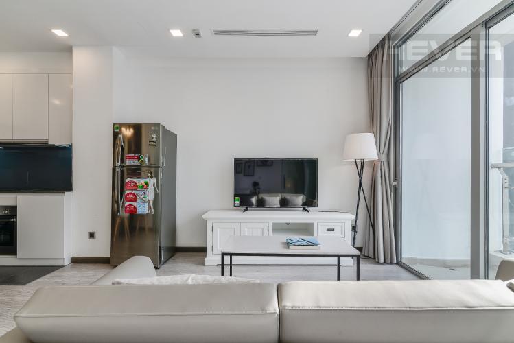 Phòng Khách Căn hộ Vinhomes Central Park tầng cao P6, 1PN nội thất đầy đủ